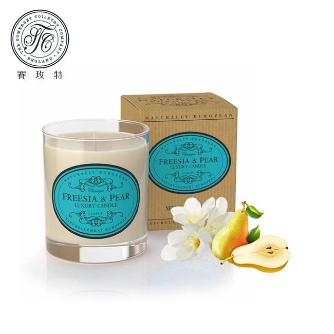 英國賽玫特自然歐洲植物蠟香氛蠟燭200g-英國梨與小蒼蘭