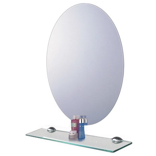 橢圓防霧明鏡 附平台 高68x寬48cm