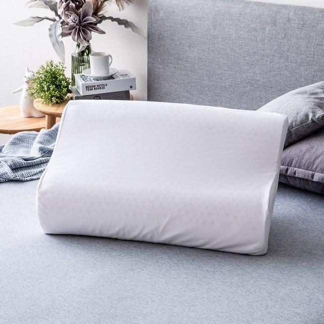 馬來西亞天然乳膠枕曲線型H10/12cm