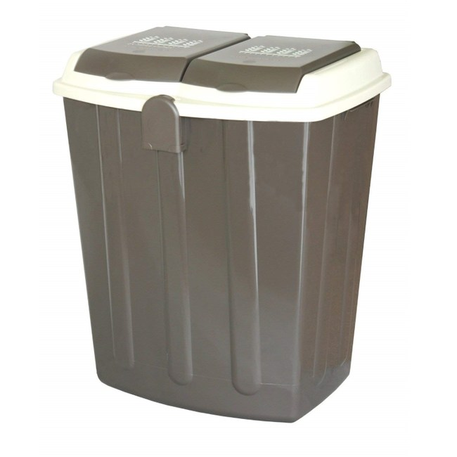 【this-this】二分類掀蓋式垃圾桶75L - 可可棕色