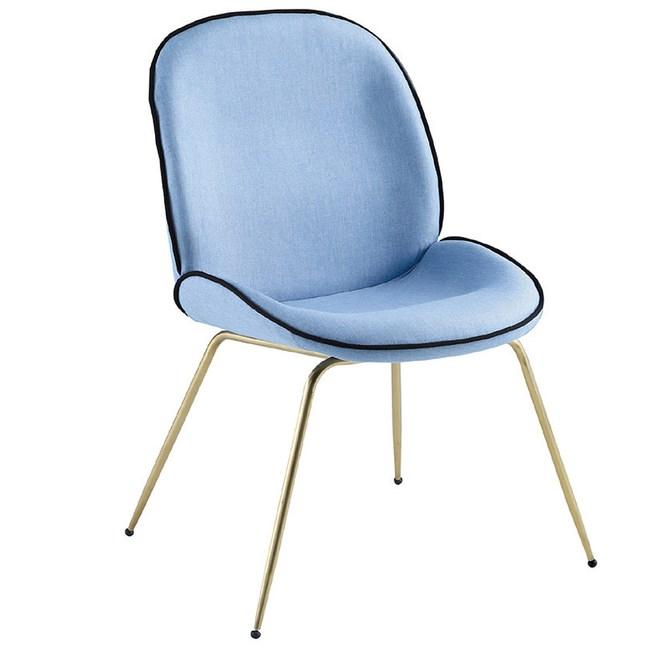 【YFS】利克藍色餐椅-48x60x83cm