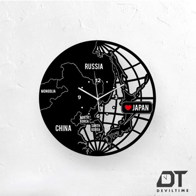 DT Time地圖木質系列時鐘-愛日本