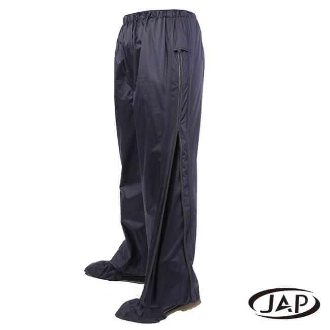 JAP 3D側開立體雨褲(附隱藏式鞋套)-黑色 YW-R117-M