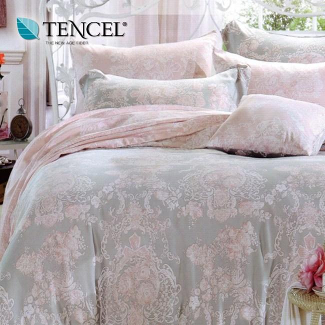 【貝兒居家寢飾生活館】100%萊賽爾天絲兩用被床包組(特大雙人/狄安娜)