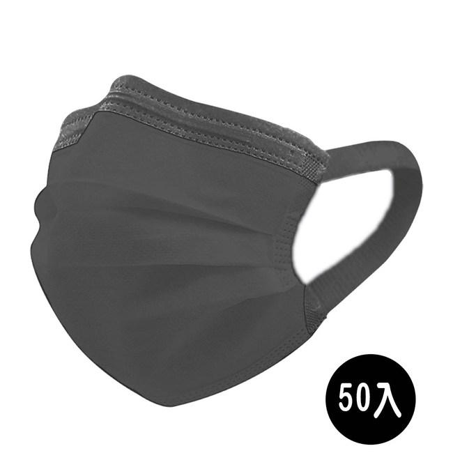 【神煥】黑色 成人 醫療 口罩50入/盒 (未滅菌)專利可調式無痛耳帶