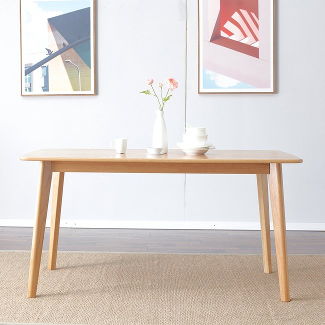 源氏木語柏林橡木1.4M Y8356T+餐椅Y8361-米白色(一桌四椅)