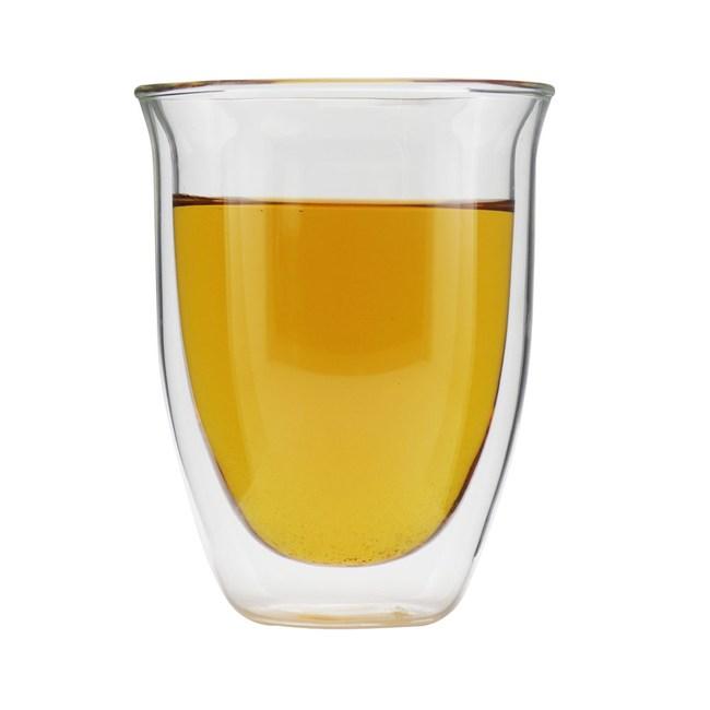 iLoveGlass 雙層隔冰熱玻璃曲線杯 300ml