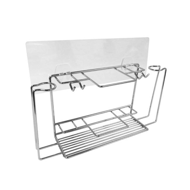 HOLA 阿瑞斯304不鏽鋼無痕貼盥洗用具架