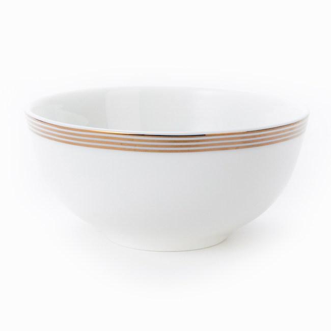 HOLA 緻金骨瓷飯碗 11.5cm 迴圈 可適用微波爐及洗碗機