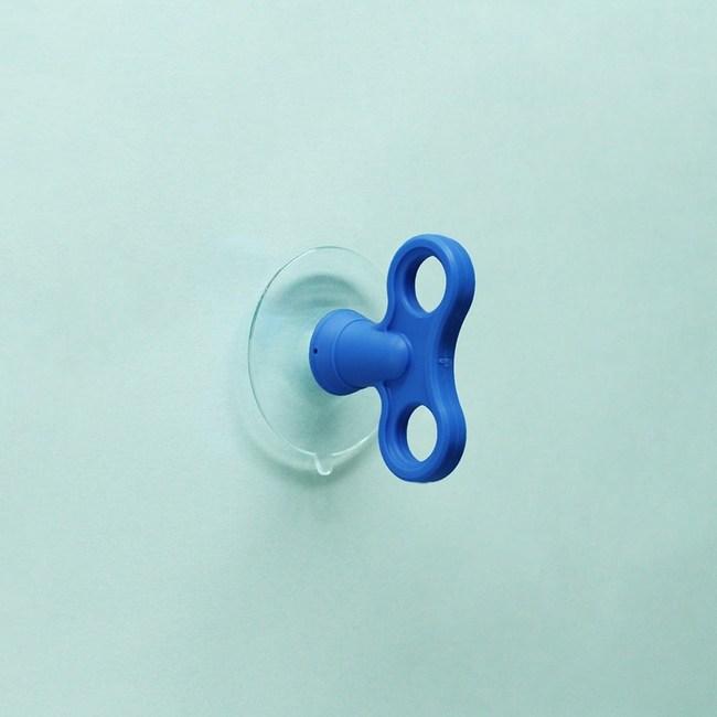 dipper│無痕強力吸盤壁掛(小)雙入-寶藍