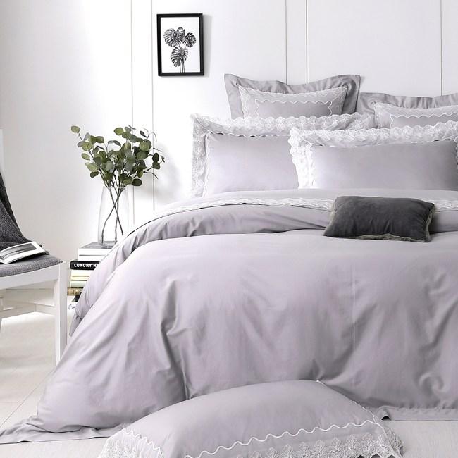 【Cozy inn】荷斯緹雅 300織精梳棉四件式被套床包組(特大)