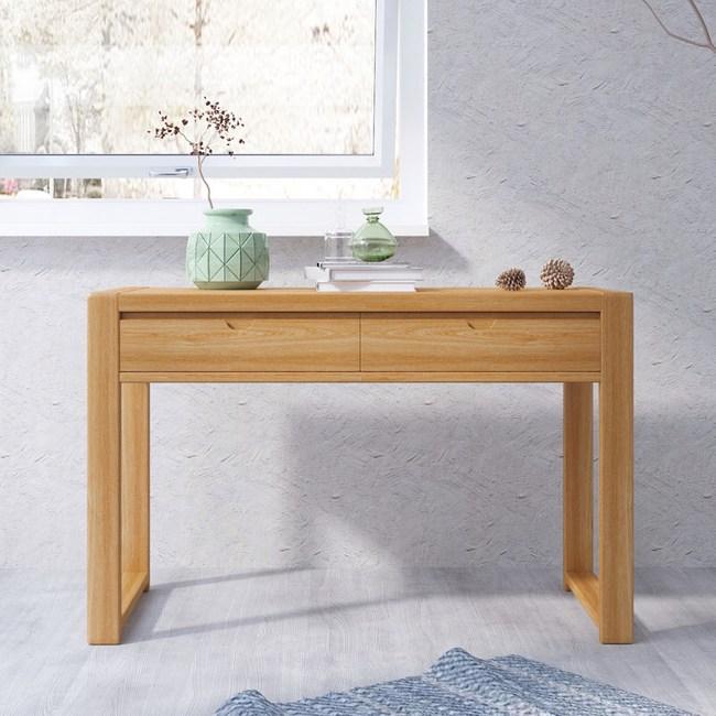 林氏木業北歐森林白橡木書桌CR1V-原木色