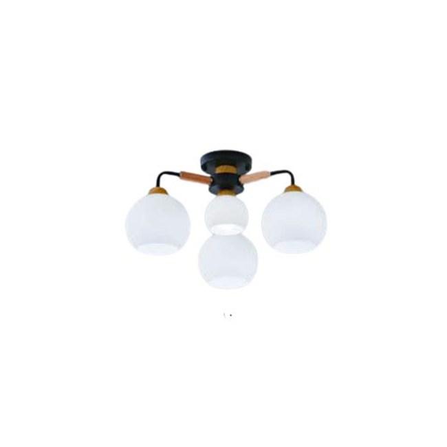 【YPHOME】北歐風附電子開關3燈半吸頂燈 適合餐廳