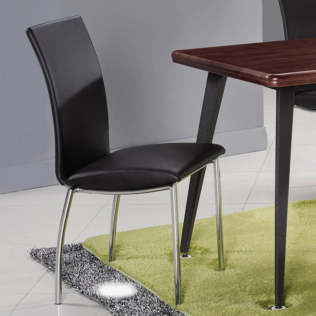 【obis】黑色皮面椅