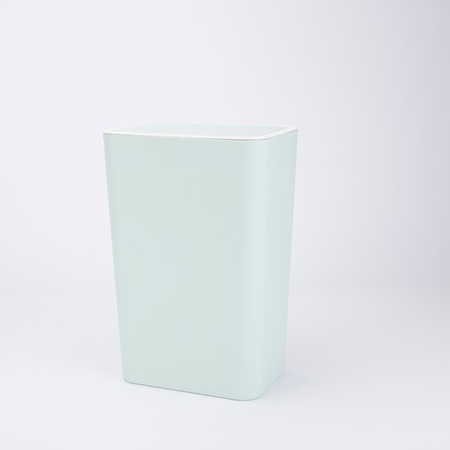 HOLA 馬卡龍按壓垃圾桶8L-新綠