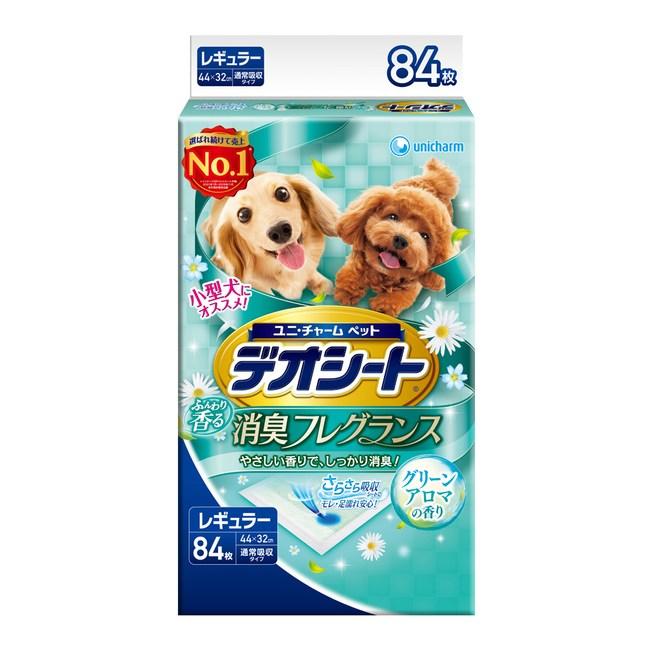【日本Unicharm消臭大師】森林香狗尿墊(M)(84片/包)