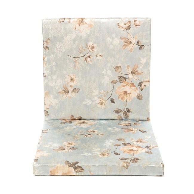 花漾坐靠兩用厚坐墊50x105cm藍