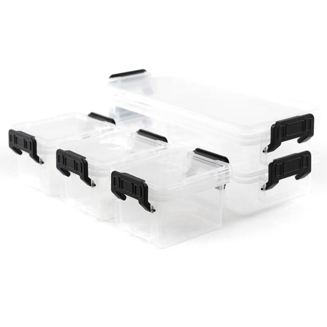CITYLIFE 迷你收納盒五件組 0.25L(2件)+0.15L(3件)