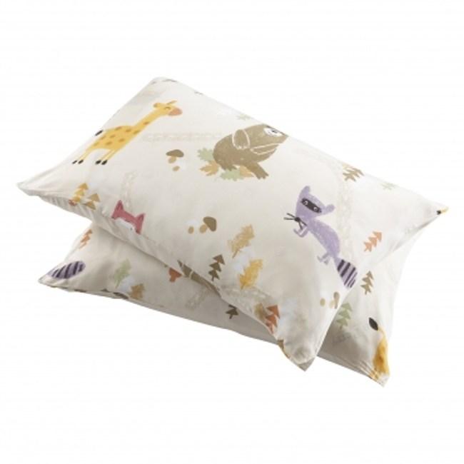 童趣森林木棉絲防蟎抗菌枕套2入