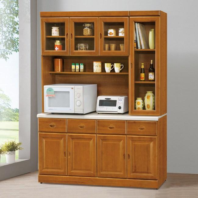 【YFS】賈斯特樟木5.3尺石面餐櫃全組-160x41.5x204.2