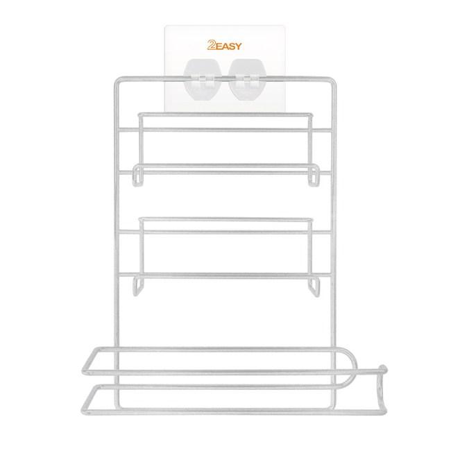 2EASY 台製無痕鐵架收納系列 保鮮膜廚房紙巾架保鮮膜廚房紙巾架