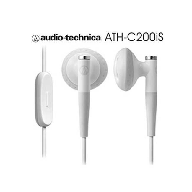 鐵三角 ATH-C200iS 白色 智慧型手機專用 免持通話白色