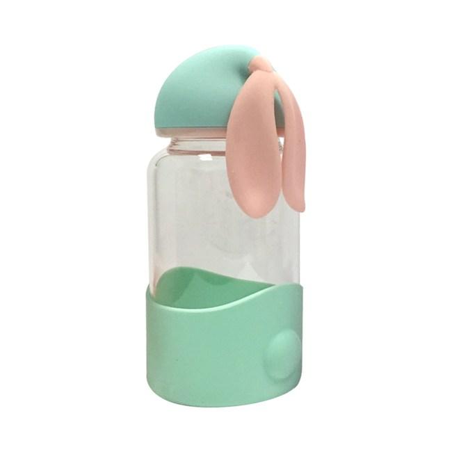 創意兔玻璃瓶340ml 綠
