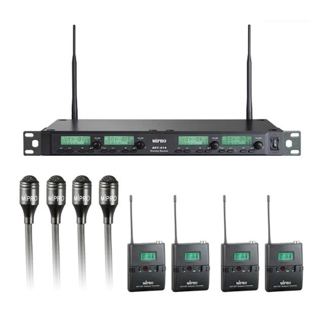 Mipro ACT-314 PLUS 無線麥克風 配 4領夾+4發射器