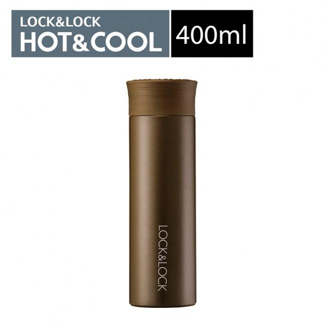 樂扣樂扣果漾不鏽鋼保溫杯400ML/棕色 B1C8