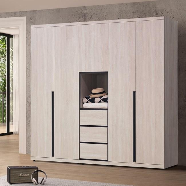 Homelike 利奧尼7x7尺衣櫃