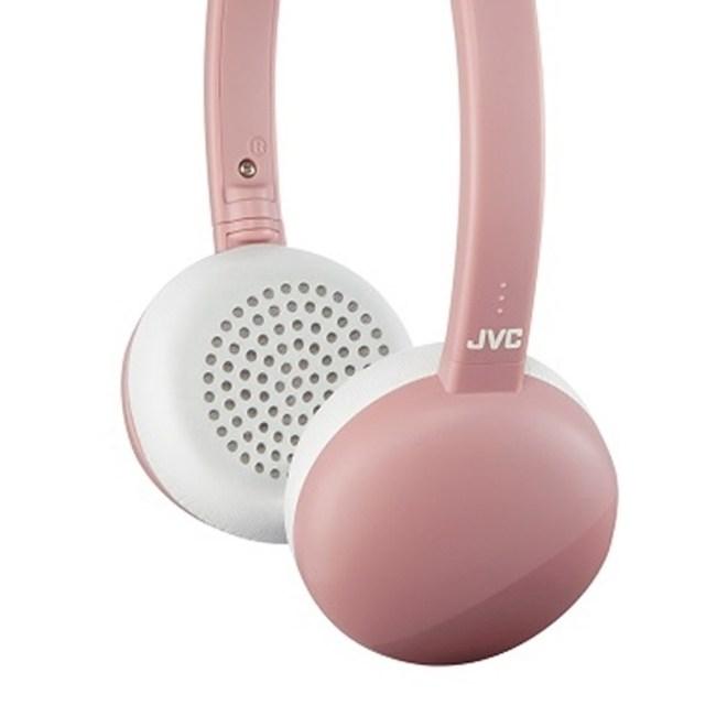 【送收納袋】JVC HA-S28BT 粉色 無線藍牙高音質耳罩式耳機