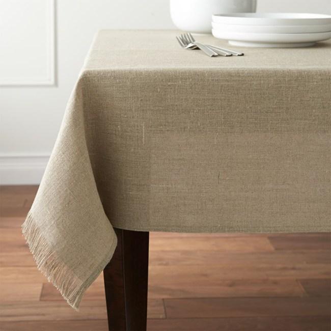 Crate&Barrel Beckett 桌巾自然色152x304cm