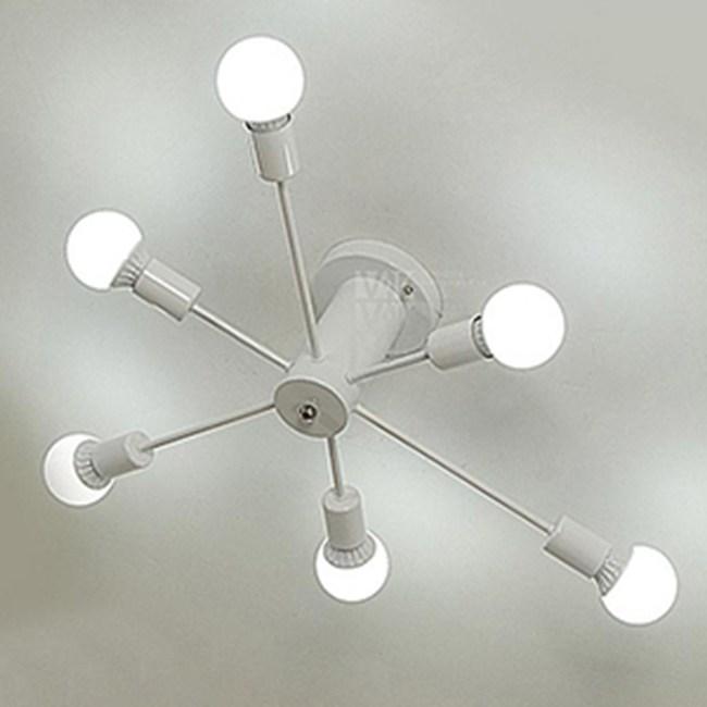 HONEY COMB 工業風高工藝吸頂燈 雙色款 6光源 白色 TA8019