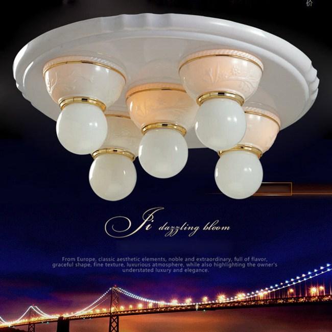 【光的魔法師】安卡拉吸頂五燈 粉白色可使用LED燈泡(燈泡請另選購)