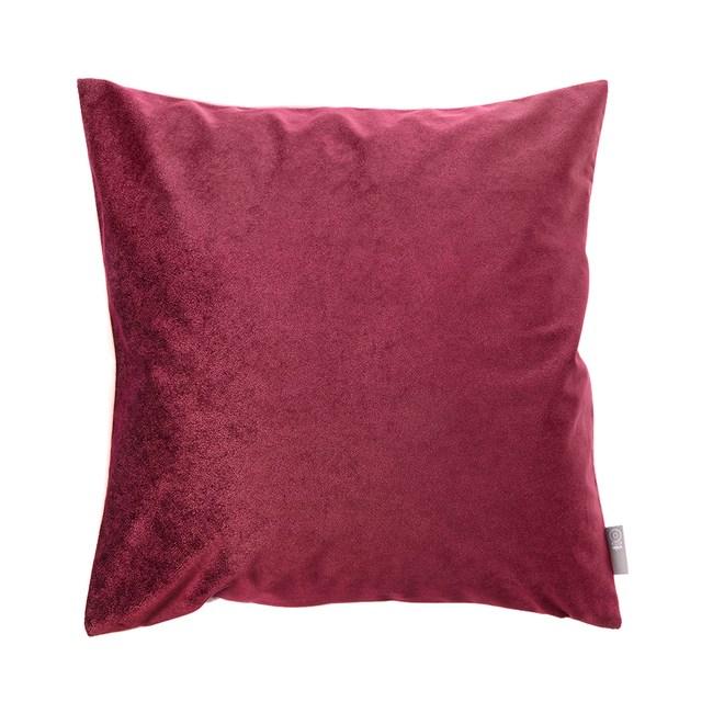 HOLA 素色星悅雙色抱枕50x50cm 酒紅色