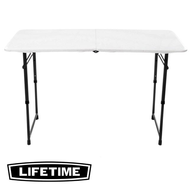 美國 Lifetime 可調高摺疊桌 四呎 型號80317