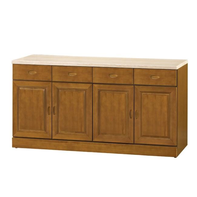 【YFS】卡拉樟木5.3尺仿石紋碗盤櫃-160x43x82.3cm