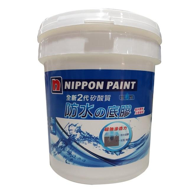 立邦全新2代矽酸質防水底膠4KG-白色