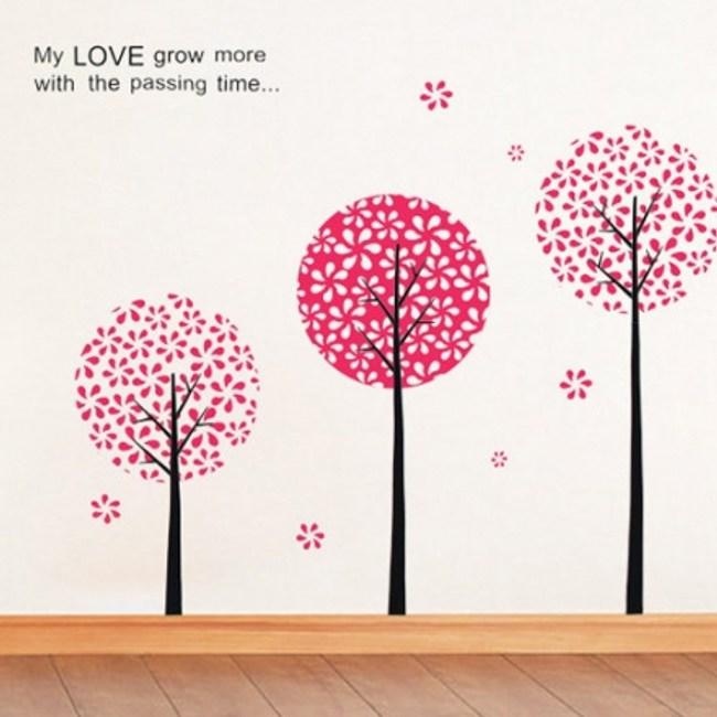 創意無痕壁貼 夢幻花樹 60x90cm