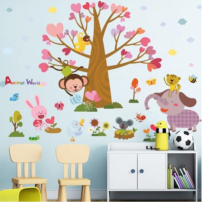 【Loviisa 動物世界】無痕壁貼 壁紙