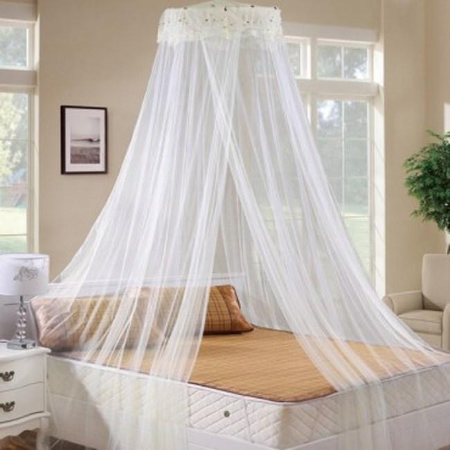 圓頂吊掛式蕾絲床幔 米色款