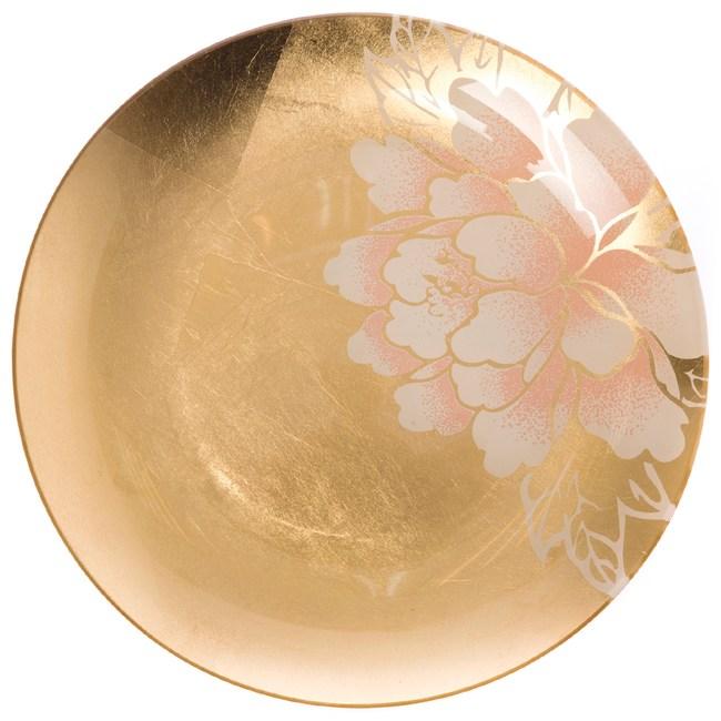 迎春盛宴系列 玻璃圓盤 24.5cm 金色款