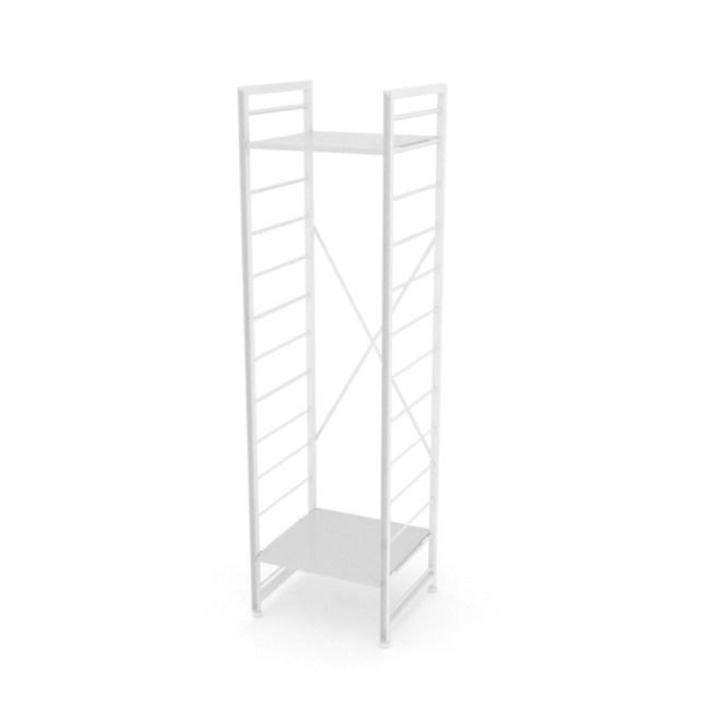 (組)特力屋萊特二層架白框/白板-40x40x158cm