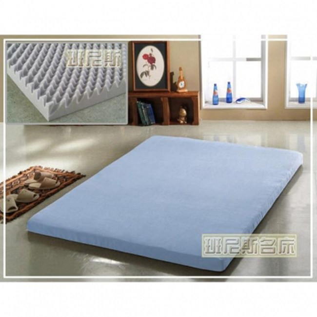 【班尼斯】雙人5x6.2尺x6cm波浪惰性記憶矽膠床墊(日本原料)/雙人床墊
