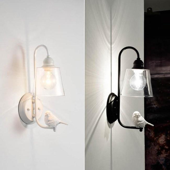 【YPHOME】鄉村風壁燈  (圖左) 白色