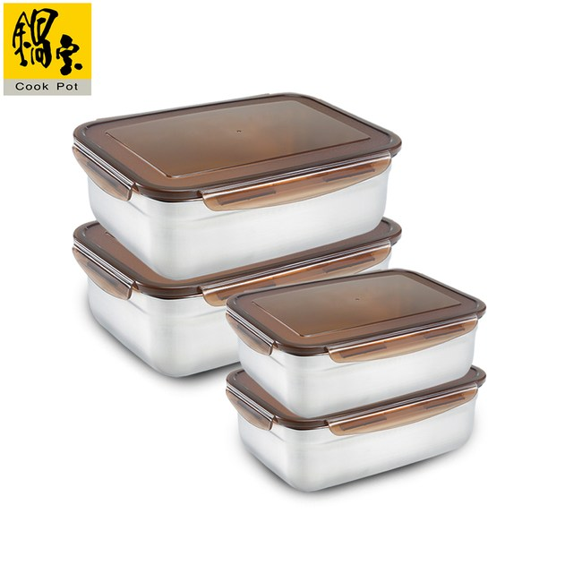 【鍋寶】316不鏽鋼保鮮盒安心4入組