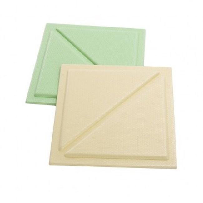 3D防撞壁飾貼墊6入 三角 (果綠3入/黃3入) 30x30x1cm