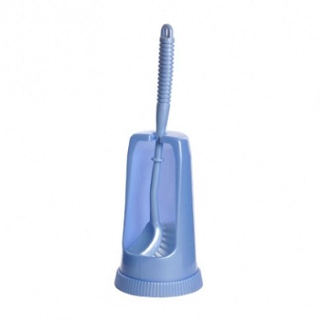塑膠馬桶刷組 - 藍色