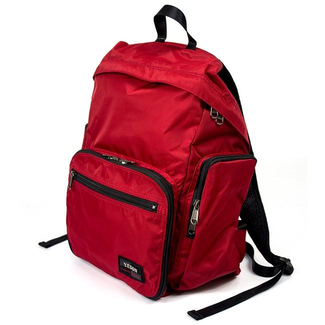 YESON - 超輕量化折疊收納後背包-四色可選-MG-6658紅色系