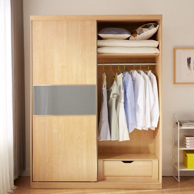 林氏木業北歐楓木色滑門衣櫃三件組BR3D+BR4D+BR5D
